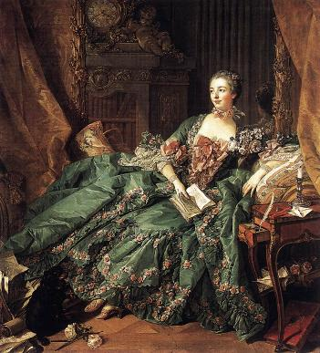 Madame Pompadour, Member of the french Court,