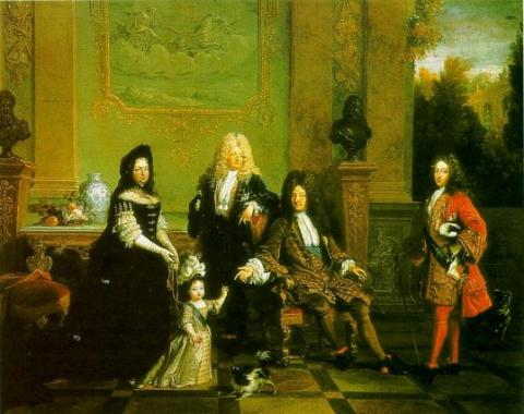 King Louis XVI (the Sun King) with Relatives